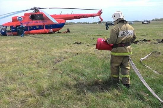 В Омской области совершил аварийную посадку вертолет Ми-8, летевший из Омска в Новосибирск