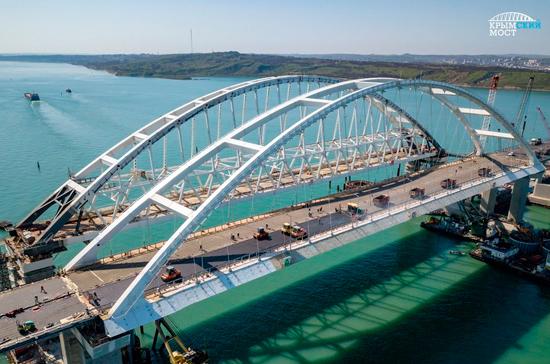 На Крымском мосту зафиксировано первое ДТП, но без пострадавших