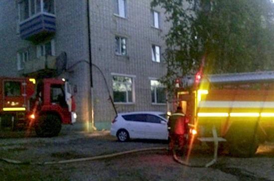 Профессионалы устранили пожар после взрыва газа вхабаровском поселке