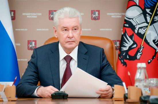 Собянин посетил свой избирательный штаб в Москве