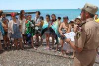 Крымские спасатели призывают отдыхающих соблюдать меры безопасности на воде и в горах