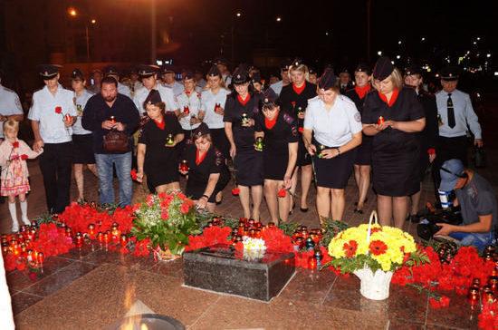 В Липецкой области ночью зажгли свечи в память о погибших в годы Великой Отечественной войны