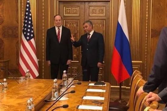 Вячеслав Никонов: межпарламентские контакты между Россией и США разморожены