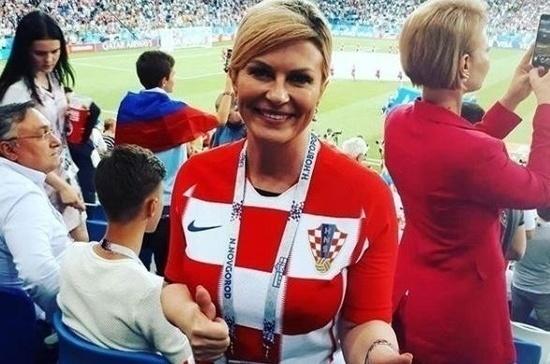 Президент Хорватии на русском призвала россиян болеть за её сборную в финале ЧМ