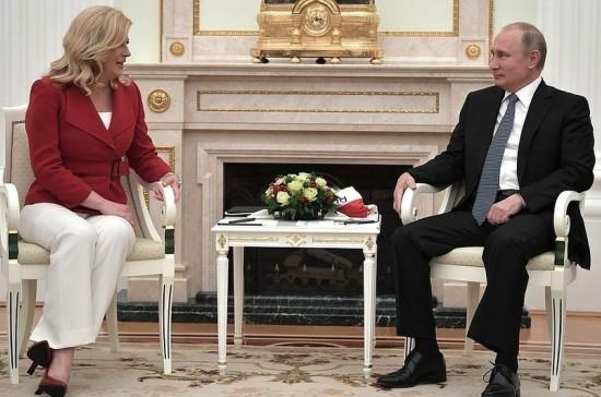 Путин надеется, что российские инвестиции в экономику Хорватии будут расти