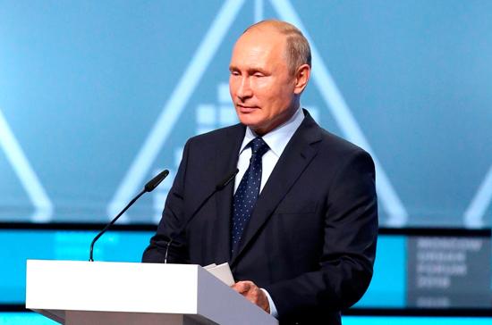 Путин: необходимо создать площадки для обсуждения проекта развития городов
