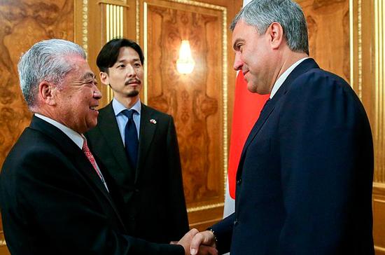 Володин: у парламентов России и Японии большой потенциал для сотрудничества