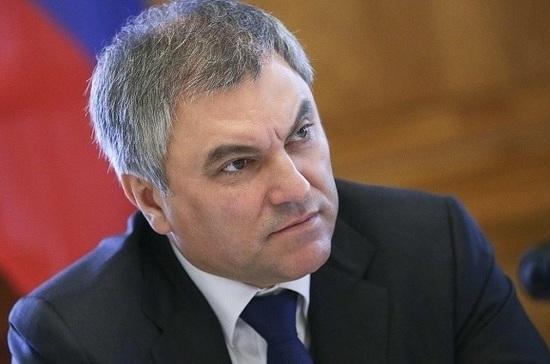 Вячеслав Володин дал депутатам домашнее задание