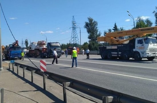 Движение на трассе в Подмосковье полностью восстановлено после обрушения перехода