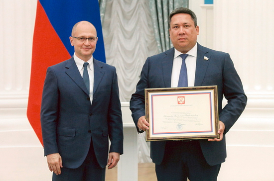 Владимир Полетаев награждён почётной грамотой президента