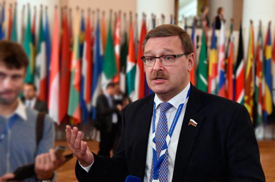 Косачев: новый законопроект США о санкциях не изменит политику России