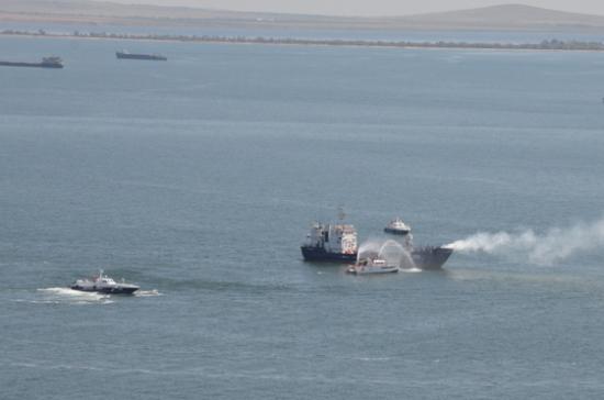 В Крыму ликвидировали условных террористов, захвативших судно в Азовском море