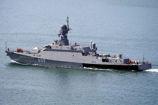 Ракетный корабль Черноморского флота направляется в Средиземное море