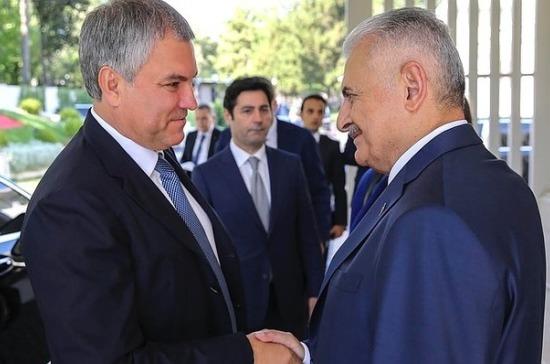 Володин иЭрдоган провели встречу вТурции
