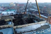 В Кемерове снесли здание сгоревшей «Зимней вишни»