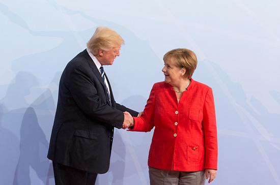 Трамп и Меркель призвали Россию повлиять на сирийские власти