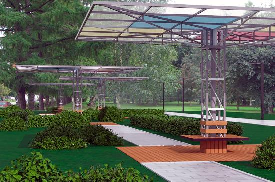 Аллея зонтов появится в парке имени Святослава Федорова