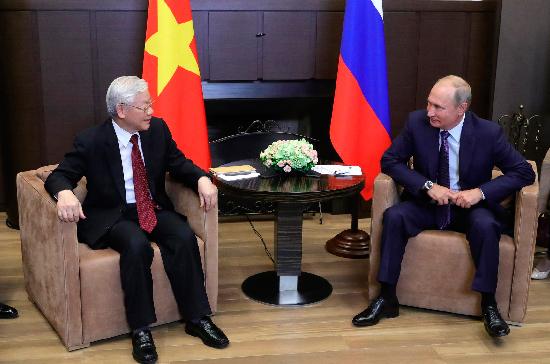 Путин и генсек ЦК Компартии Вьетнама подписали ряд документов