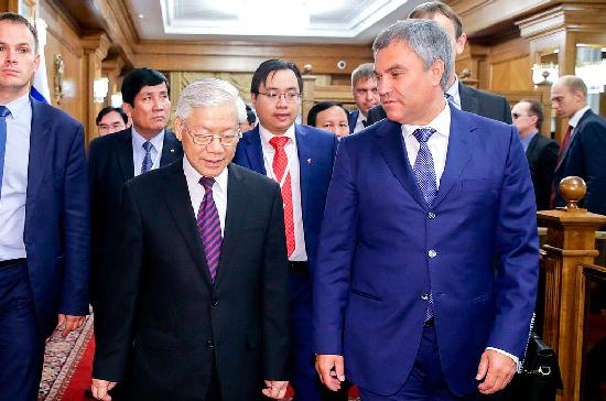 В Компартии Вьетнама отметили высокий уровень межпарламентских отношений с Россией