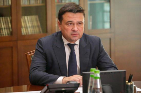 Воробьёв проверил ход строительства академии хоккея в Красногорске