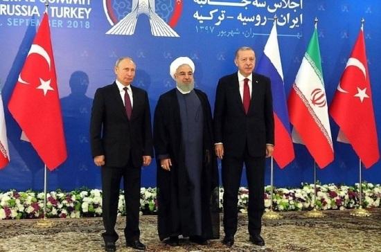 Россия, Иран и Турция будут искать пути урегулирования по Идлибу по нормам астанинского процесса