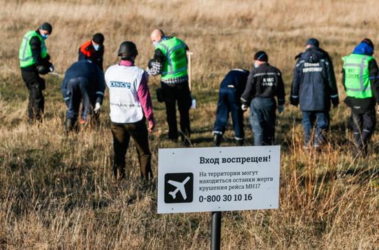 Минобороны передало Нидерландам информацию о крушении MH17