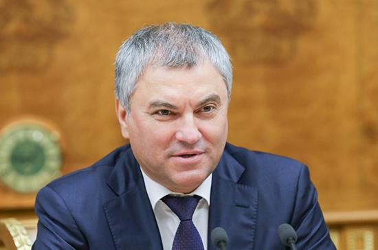 Володин подчеркнул важность постоянного общения с представителями парламентов других стран