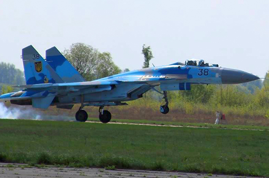 На Украине разбился самолёт Су-27