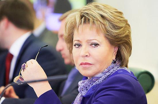 Матвиенко призвала жёстче пресекать незаконную вырубку леса