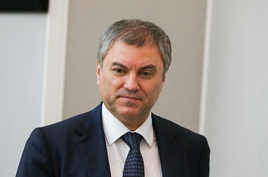 Володин пригласил главу верхней палаты парламента Индии в Москву