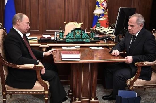 Путин поздравил Зорькина с Днём Конституции
