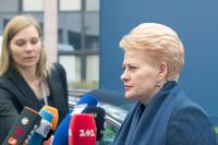 В Литве человеком года признали президента Далю Грибаускайте