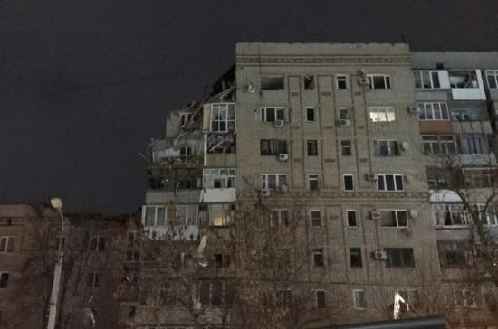 В повреждённом взрывом доме в Шахтах сохраняется угроза обрушения конструкций