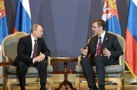 Ушаков рассказал, что обсудят Путин и Вучич на переговорах в Белграде