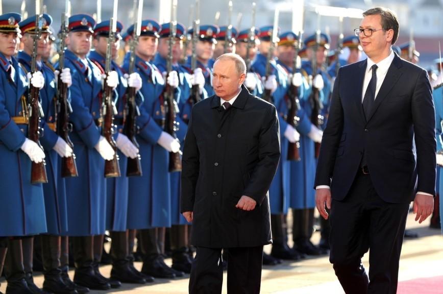 Путин похвалил Вучича за принципиальность