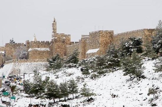 В Израиле выпало до 10 см снега