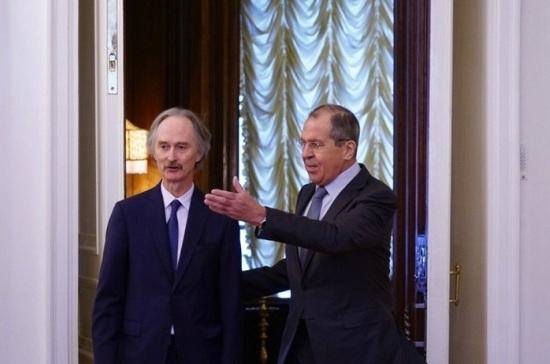 Лавров и Педерсен обсудили урегулирование кризиса в Сирии