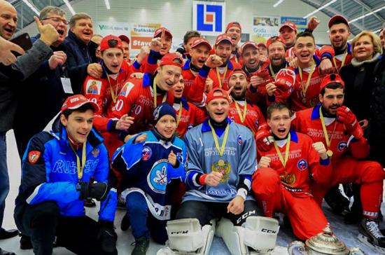 Путин поздравил сборную России по бенди с победой на ЧМ