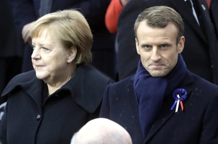 Макрон отказался от выступления с Меркель из-за разногласий по «Северному потоку»