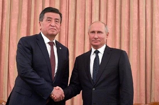 Путин в Сочи встретился с президентом Киргизии