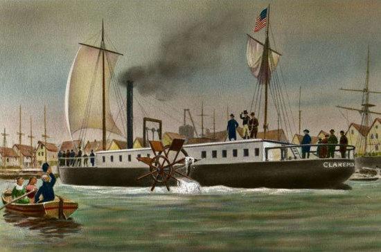 Изобретение парохода повергло лодочников в ужас