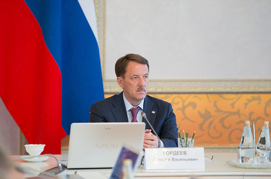 Вице-премьер Алексей Гордеев в марте выступит на пленарном заседании Совета Федерации