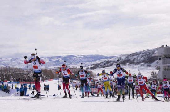 Российские биатлонисты стали седьмыми в смешанной эстафете в Солт-Лейк-Сити