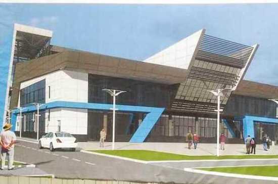Строительство спорткомплекса на проспекте Победы в Евпатории завершат в конце года