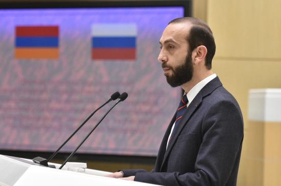 Спикер парламента Армении: Ереван считает Москву своим стратегическим партнером