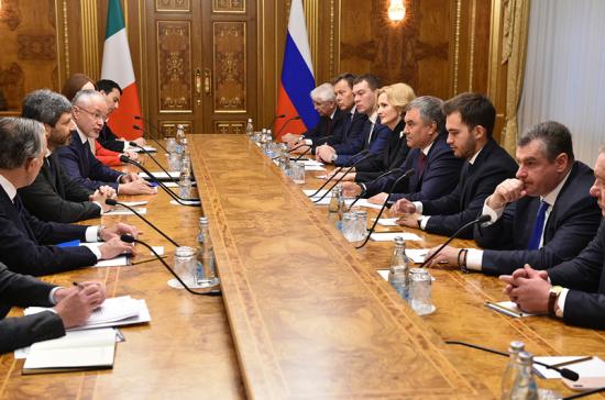 Володин: парламентарии России и Италии должны открыто говорить на тему санкций
