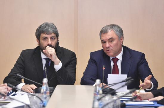 Спикер Госдумы: санкции мешают реализовать потенциал отношений России и Италии
