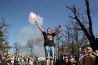 Эксперт: за действиями протестующих в Сербии стоит Запад