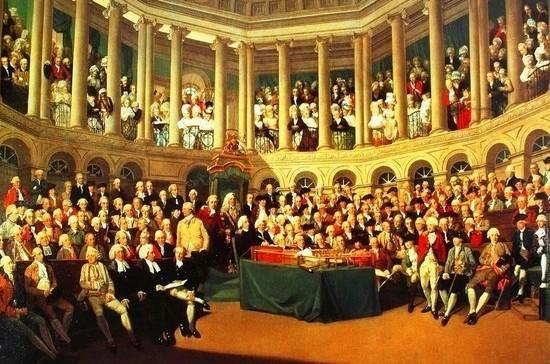 Заседание английского парламента Пётр Первый смотрел с крыши
