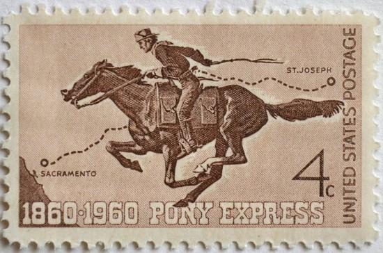 Первые почтовые курьеры вынуждены были отстреливаться от бандитов